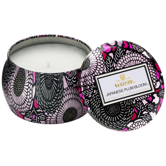 Japanese Plum Bloom 4.5oz Tin Candle