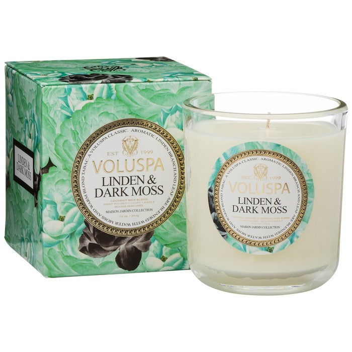 Linden & Dark Moss 12 Jar Candle