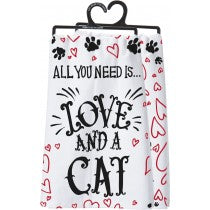 Love & A Cat Towel