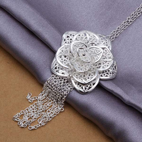 .925 Sterling Flower Necklace