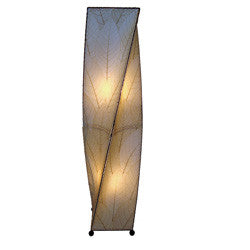 Twist Table / Floor Lamp - Natural