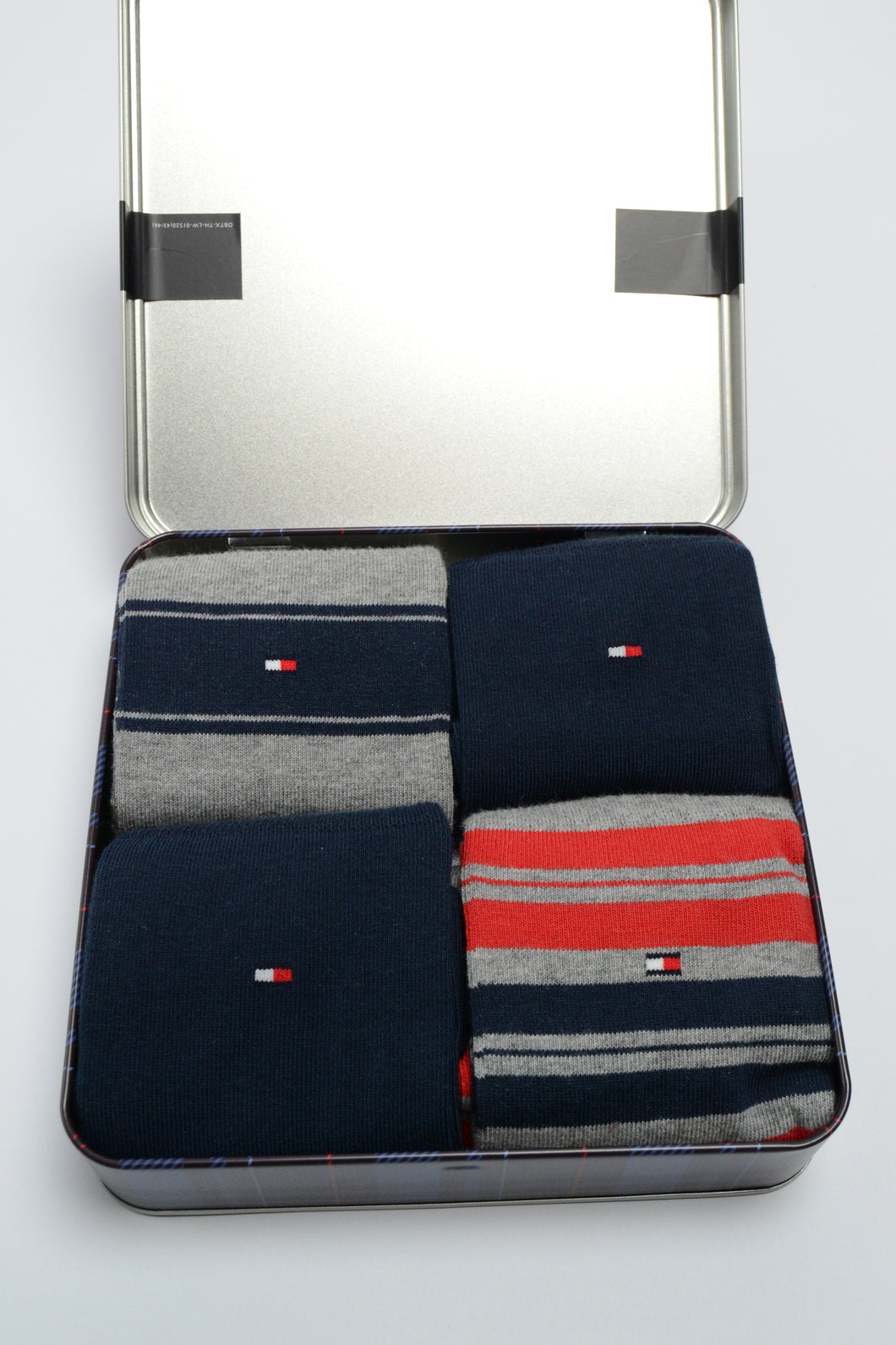 Tommy Hilfiger Socks, 4 Pair Gift Set, Navy/Grey