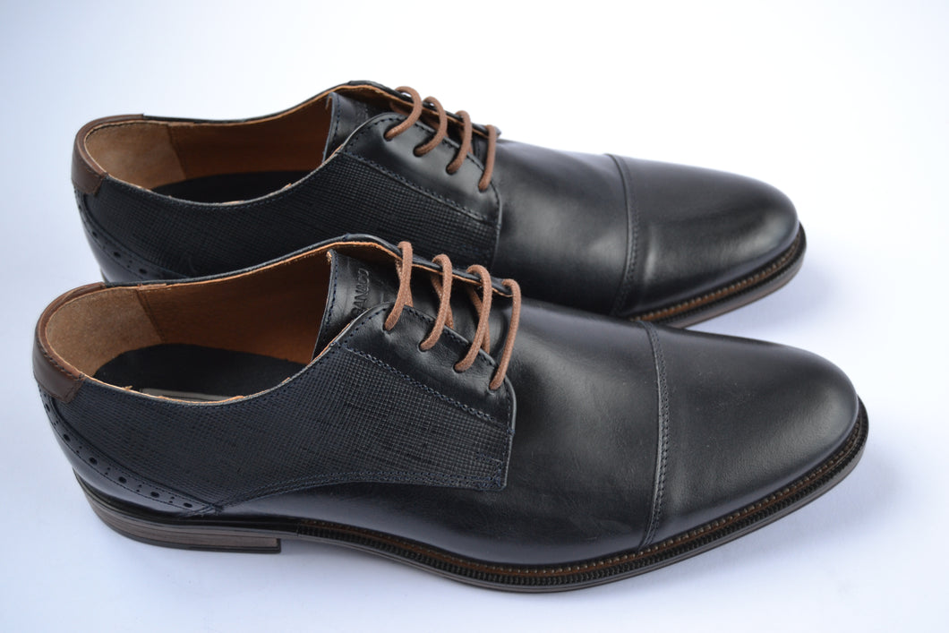 Morgan & Co. Dark Navy Lace Toecap Shoe