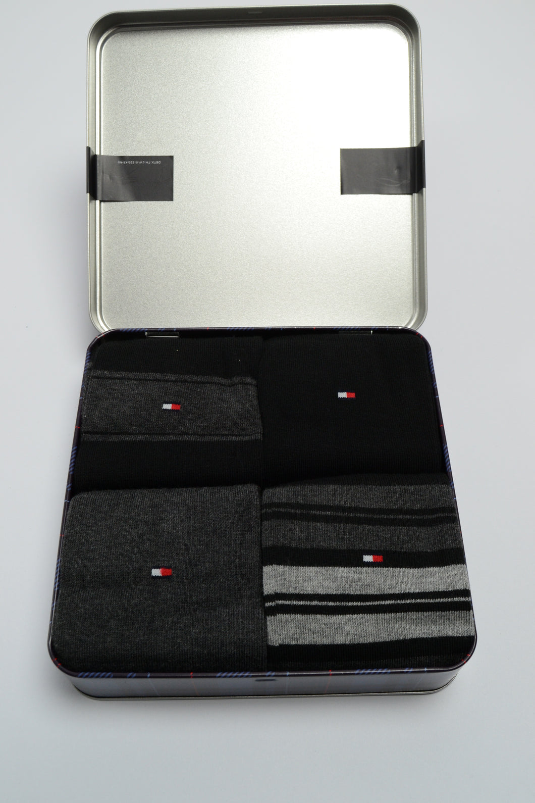 Tommy Hilfiger Socks, 4 Pair Gift Set, Grey/Black