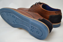 Load image into Gallery viewer, Bugatti Cognac/Blue Lace Shoe