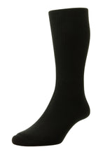 Load image into Gallery viewer, HJ1351 Black cotton DIABETIC Sock, size 6-11
