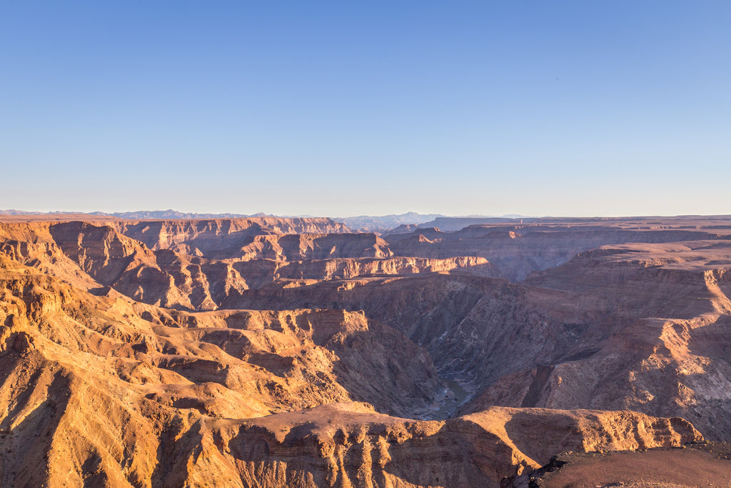 Fish River Canyon in Namibia at sunset