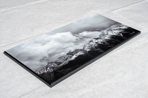 Black and white mountain wall art