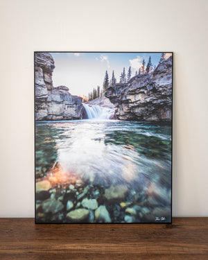 Elbow falls wall art sample