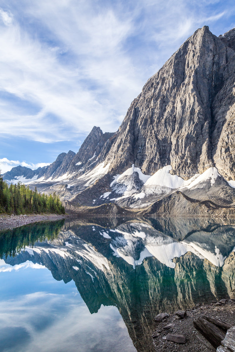 Rockwall reflects in Floe Lake, Kootenay National Park, landscape photography