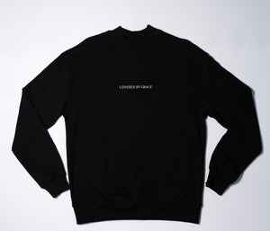 Covered By Grace - Mock Neck Sweater in Black