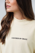 Load image into Gallery viewer, Covered By Grace - Mock Neck Sweater in Alabaster