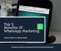 5 benefits of WhatsApp Marketing