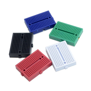 Small Breadboard (5 pcs) in white, black, blue, red and green