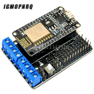 NodeMCU + Motor shield (CP2102)