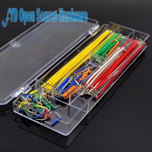 14kind 10strip = 140pcs U Shape Solderless Breadboard Jumper Cable Wire Kit For PCB Bread Board