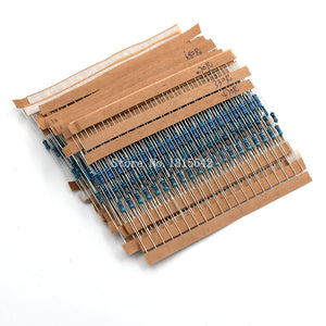 600PCS Resistor Kit 10 ohm-1M ohm