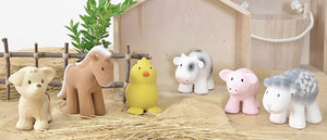Tikiri Farm Animals made from natural rubber