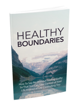 Load image into Gallery viewer, Healthy Boundaries eBook - How To Say No Without Feeling Guilty