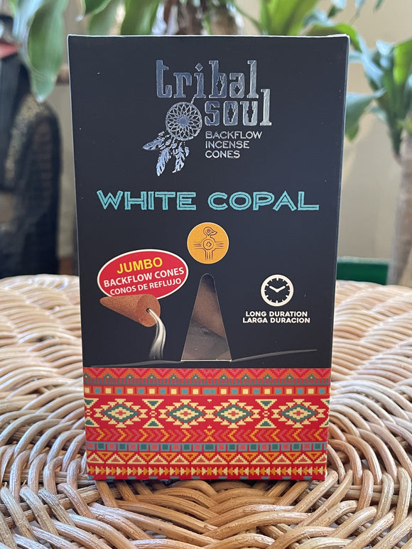 Tribal Soul Backflow Incense Cones - White Copal