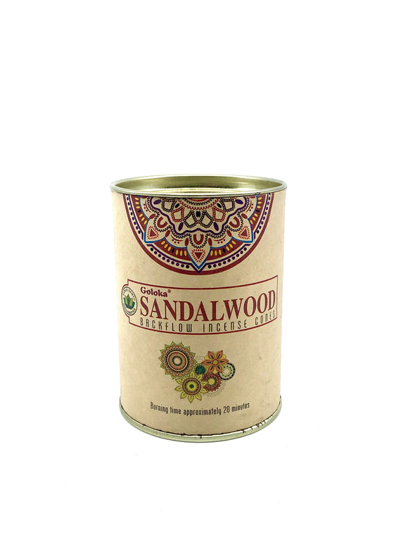 Goloka Sandlewood - Backflow Incense Cones