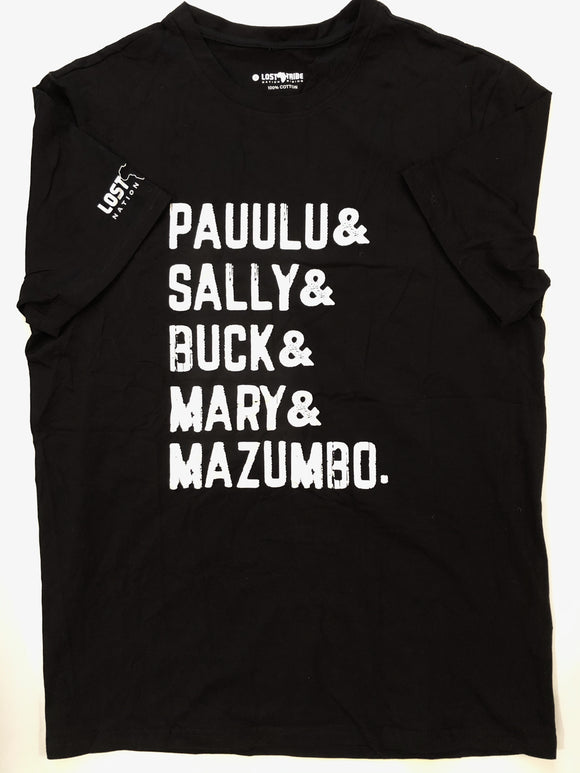 Pauulu Sally Buck Mary Mazumbo - Black Shirt