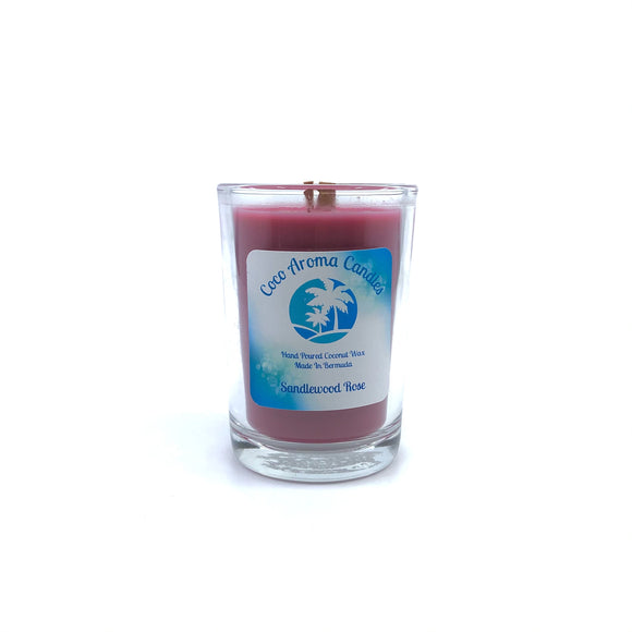 Coco Aroma Candles - Sandlewood Rose