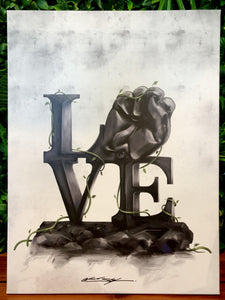 "Love - Canvas Print (18""x24"")"
