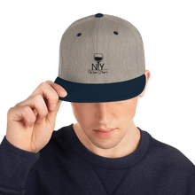 Load image into Gallery viewer, NYWT Snapback - Black Logo - NY Wine Tours