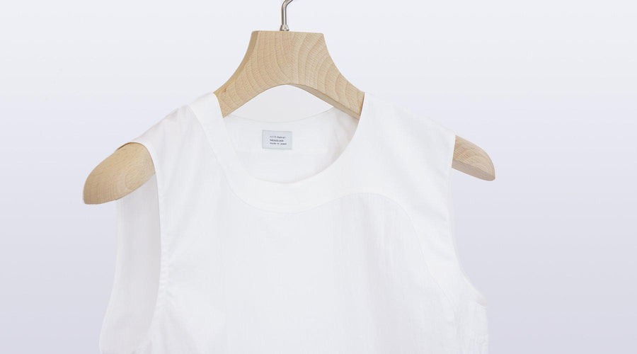 Equilibre Tank Blouse / WHITE