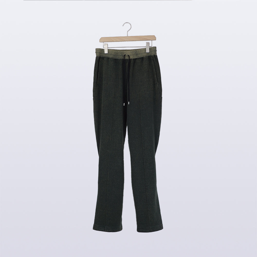 Silk Noil Lounge Pants / BLACK