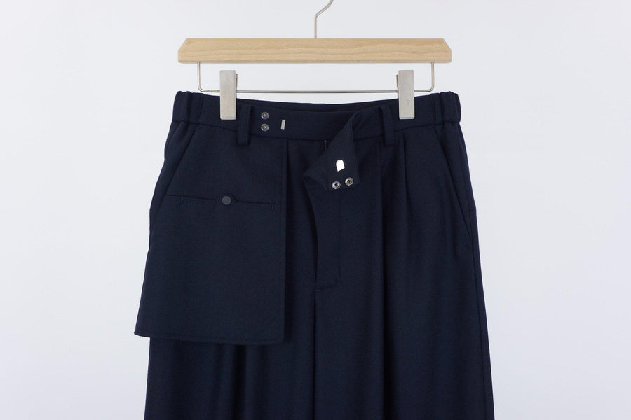 Wide Organ Trousers / NAVY