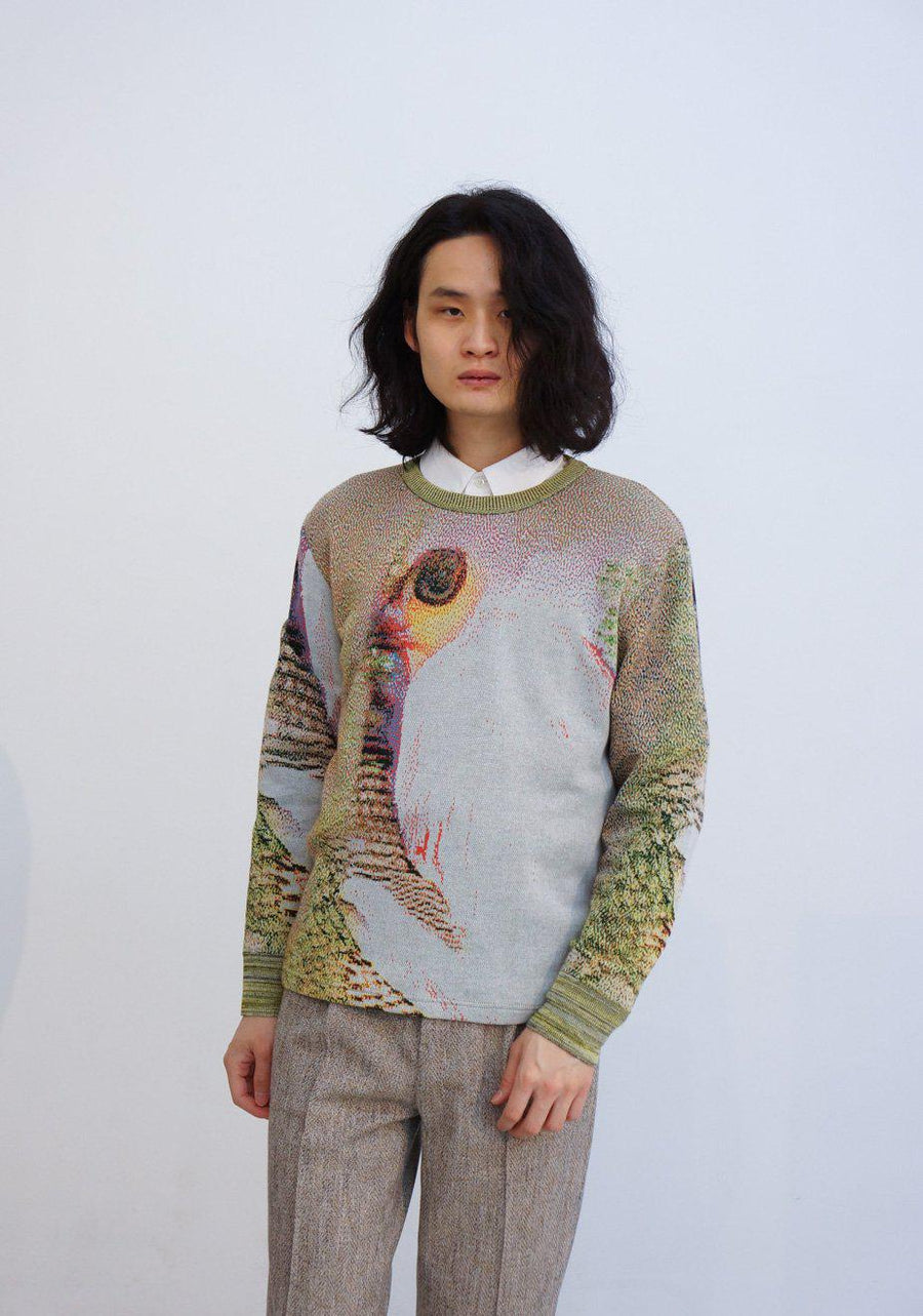 Syn Feather Sweater / Owl