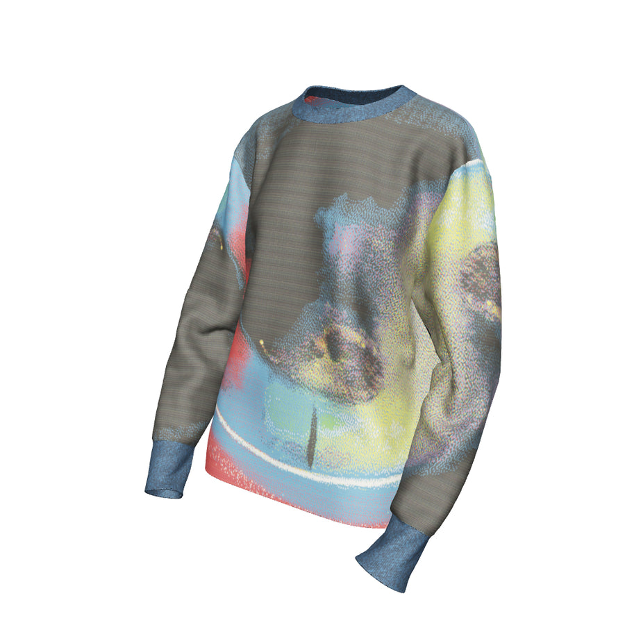 Syn Feather Sweater / Pigeon