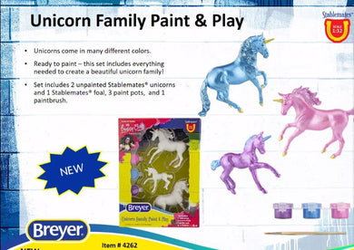 Unicorn Family Paint and Play-Breyer Stablemate-New for 2021