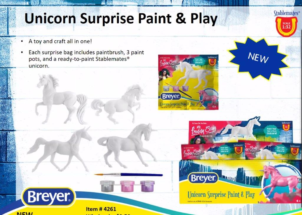 Unicorn Surprise Paint and Play-Breyer Stablemate-New for 2021-PRE ORDER