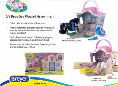 Lil Beauties Playset-Breyer Accessories-New for 2021