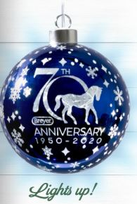 Breyer Holiday 2020 70th Anniversary Glass Ball Ornament-PRE ORDER