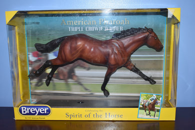 American Pharoah-New in Box-Triple Crown Winner-Breyer Traditional