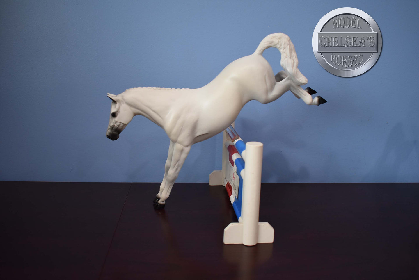 Phantom-Dapple Grey Race Horse-Breyer Traditional