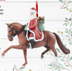Dressage Santa Ornament-Breyer Ornament