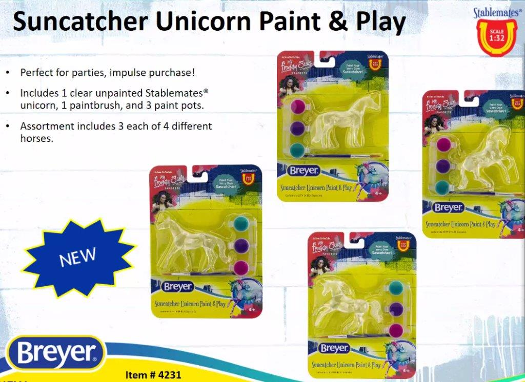 Suncatcher Unicorn Paint and Play-Breyer Stablemate-New for 2021-PRE ORDER