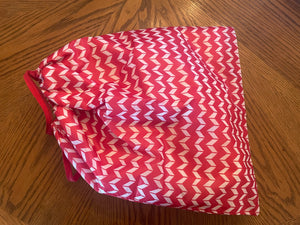 Fleece Lined Pony Pouch-By Chelsea-Red Chevron-Traditional Size-Breyer Accessories