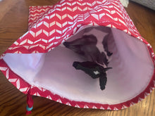 Load image into Gallery viewer, Fleece Lined Pony Pouch-By Chelsea-Red Chevron-Traditional Size-Breyer Accessories
