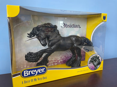 Obsidian-Unicorn on Gypsy Vanner Mold-Breyer Traditional-New for 2021