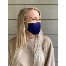 Load image into Gallery viewer, Purple/Gold Microfiber Mask - Mask Me Now (MMN)