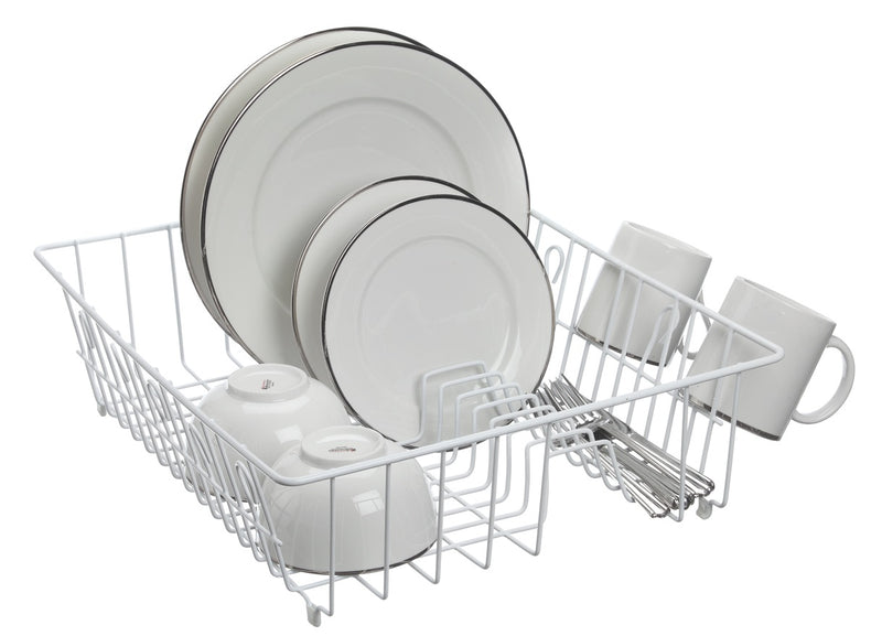 DISH DRAINER DELUXE WHITE