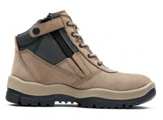 MONGREL BOOTS P SERIES ZIPSIDER SAFETY ANKLE STONE