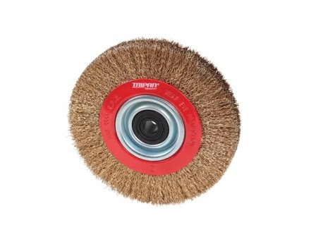TAIPAN PEDESTAL WHEEL BRUSHES CRIMPED 150MM 6 INCH x 19MM TO-3076
