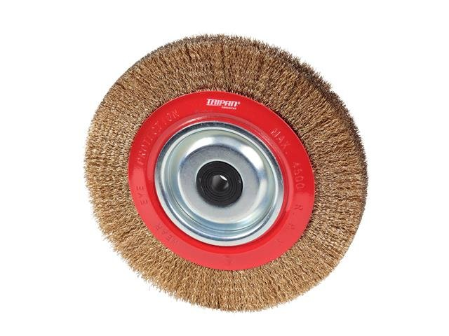 TAIPAN PEDESTAL WHEEL BRUSHES CRIMPED 200MM 8 INCH x 25MM TO-3078